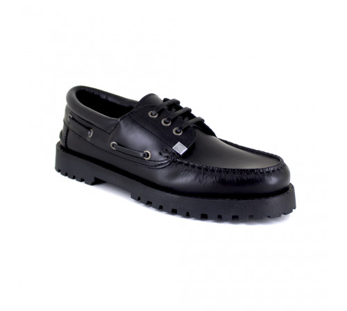 Boat Loafer J.Bradford Black Leather JB-AULAY511
