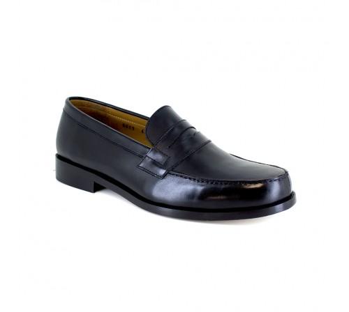 Loafer J.BRADFORD Black Leather JB-BACCARAT