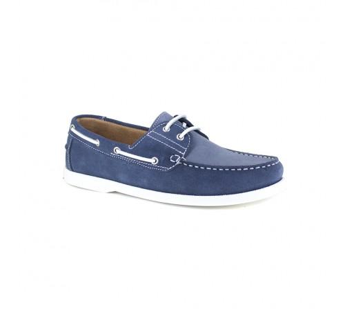 Boat Loafer J.Bradford Blue Jeans Leather JB-POUPE
