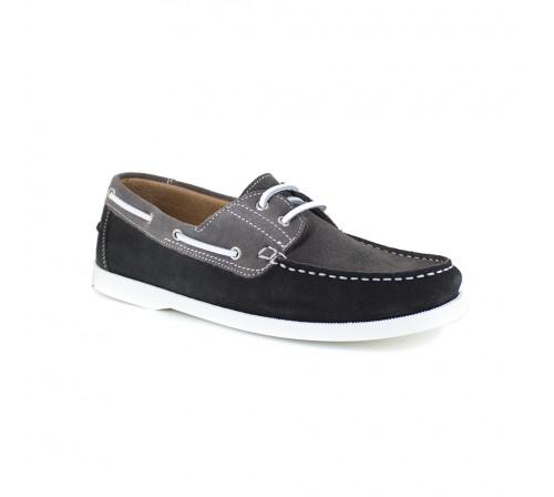 Boat Loafer J.Bradford Grey Leather JB-BABORD