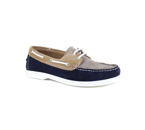Boat Loafer J.Bradford Blue Leather JB-CORVETTES
