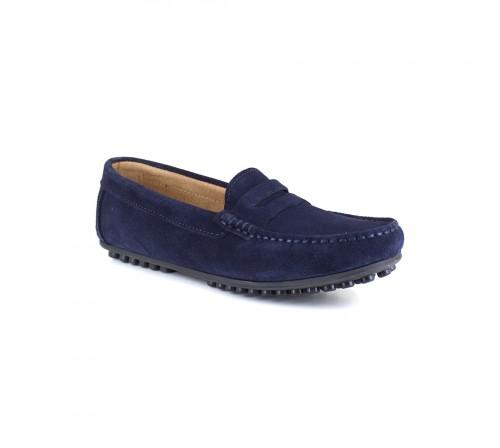 Loafer J.Bradford Navy Blue Leather JB-LEVANTE