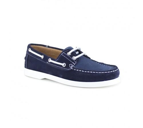 Boat Loafer J.Bradford Navy Blue Leather JB-CORVETTES