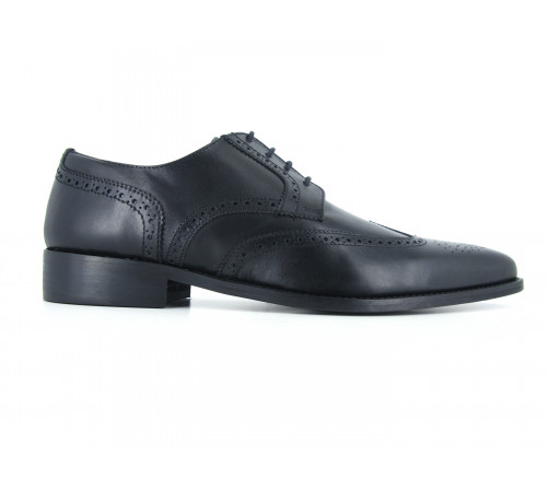 J.Bradford black leather shoes man