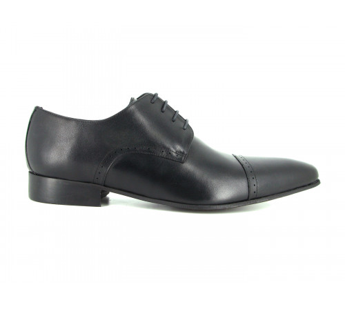 J.BRADFORD black leather shoes for man ADAM