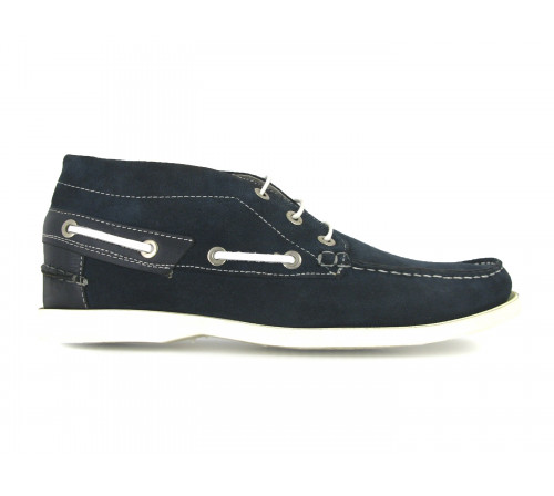 ANDREW MacALLISTER Bateaux Boots 360-24 Velours Bleu