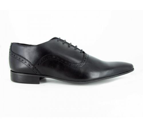 J.Bradford Chaussure Homme De Ville Richelieu Cuir Noir RICK