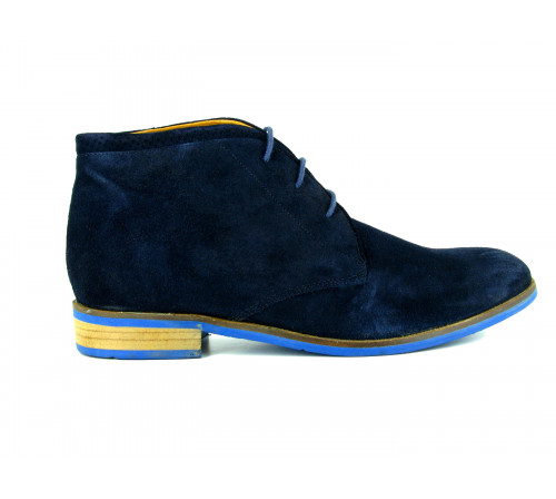 J.BRADFORD Man Navy Leather Shoes Boots JB-MAINHOLM