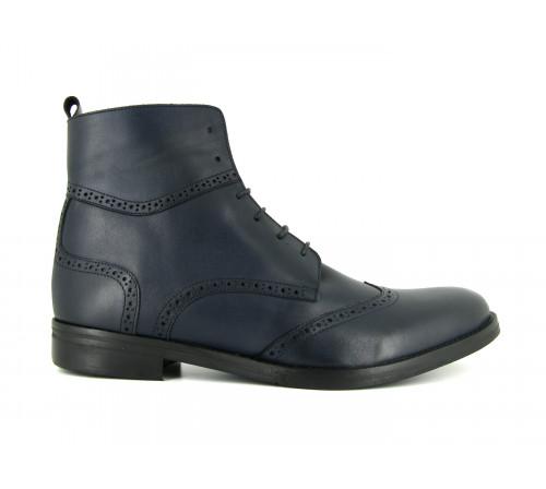 J.Bradford man shoes boots blue navy leather JB-VICTOR