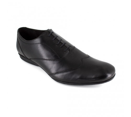 J.Bradford Man Black Leather shoes richelieu JB-OLIVIO