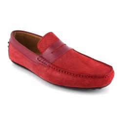 Deportivo J.Bradford Cuero Burdeos - Color - Rojo, Talla Zapatos - 41