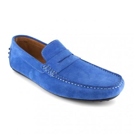 Mocassin J.Bradford Blue Leather JB-BERFIN - Couleur - Bleu gQST8