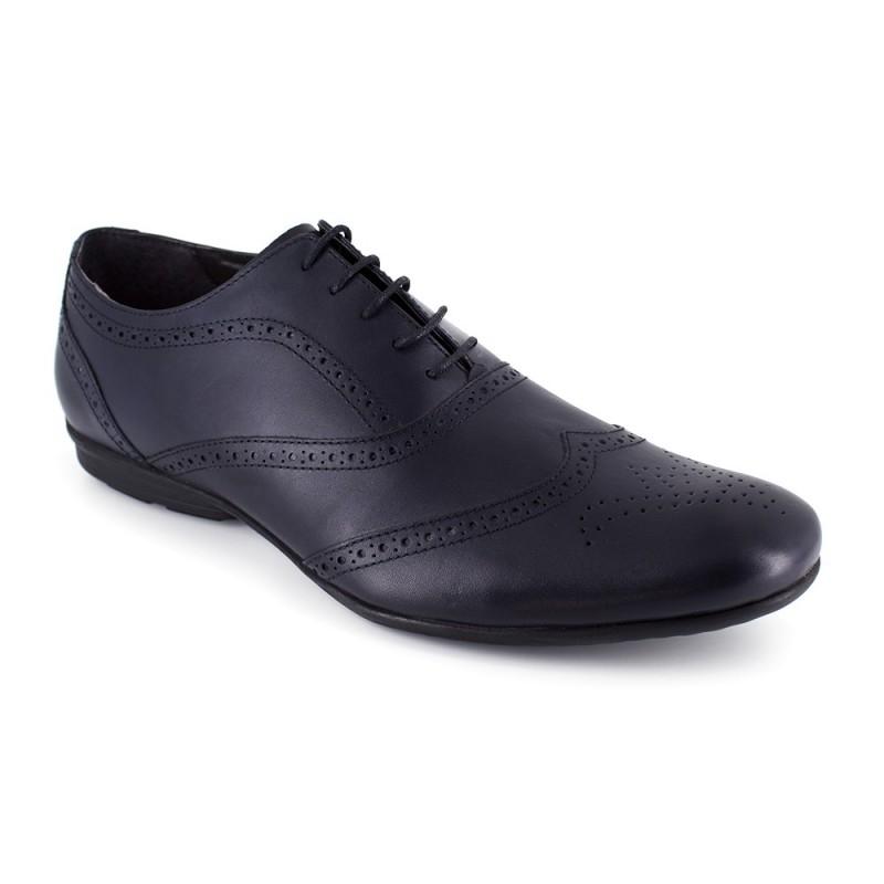 J.Bradford - Zapatos Hombre Richelieu JB-DANIEL Negro - Color - Negro, Talla Zapatos - 46