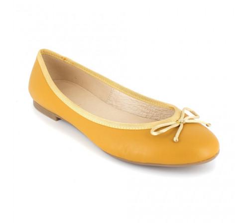 Ballerina Loca Lova Mustard Leather VALENTINE