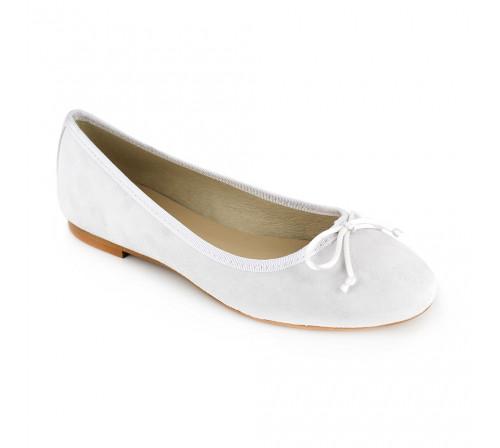 Ballerina Loca Lova White Leather LL225