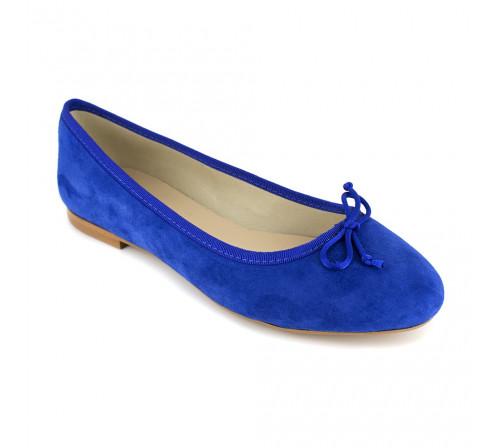 Ballerine Loca Lova Cuir Bleu LL225
