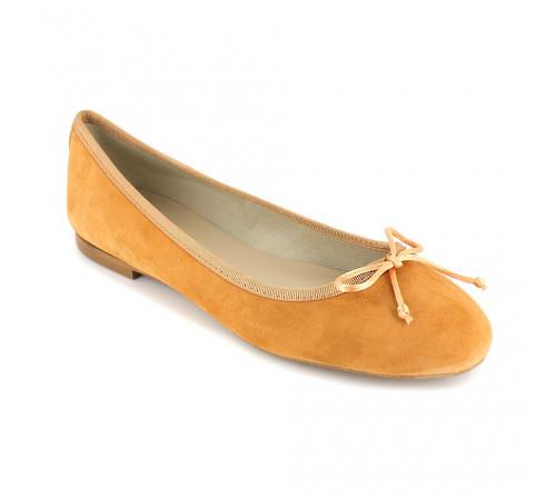 Ballerine Loca Lova Cuir Orange LL225