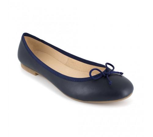 Ballerina J.Bradford Navy Blue Leather JB-Valeria