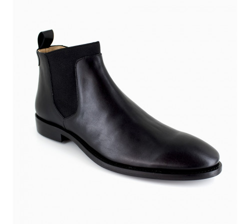 Low Boots J.Bradford Black Leather JB-TRADE