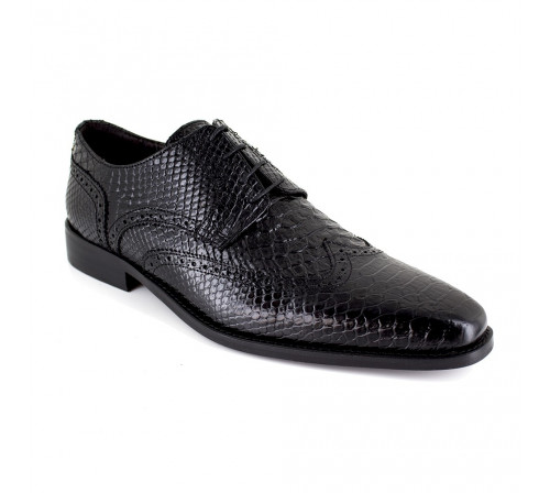 Derby J.Bradford Black Croco Leather JB-LOTUS