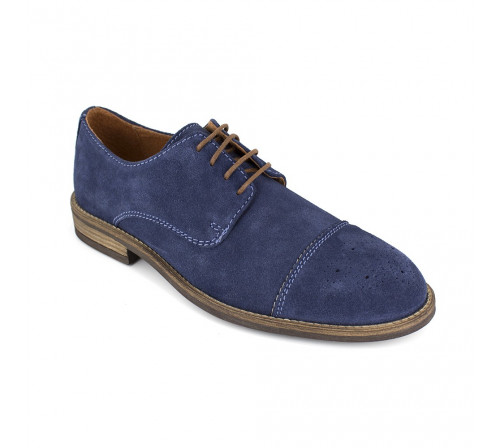 Derby J.Bradford Blue Leather JB-CRIS