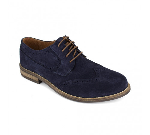 Derby J.Bradford Navy Blue Leather JB-CRISTIAN