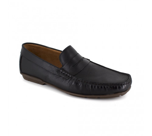 Loafer J.Bradford Black Leather JB-DETAIL