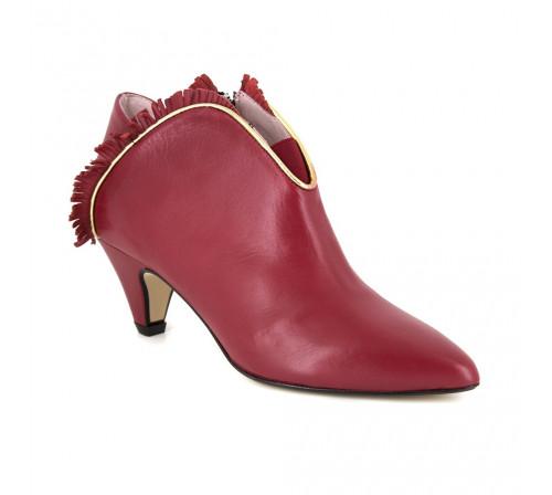 Boots Loca Lova Red Leather LL106