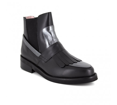 Boots Loca lova Black Leather LL101