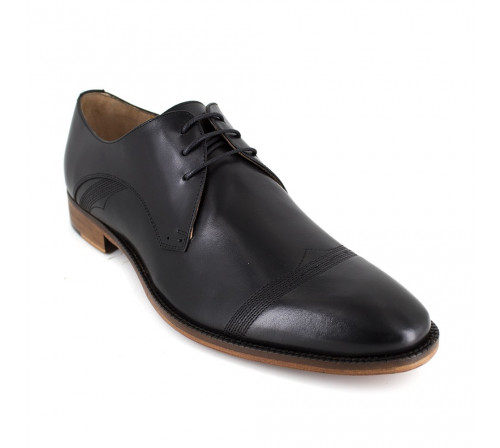 Derby J.Bradford Black Leather LONIC