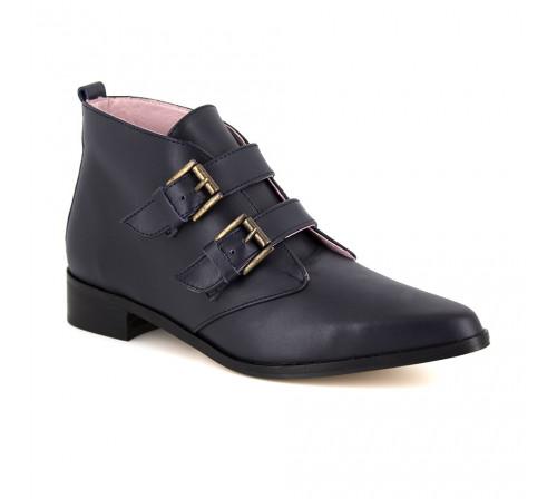 Boots Loca Lova Navy Blue Leather LL105