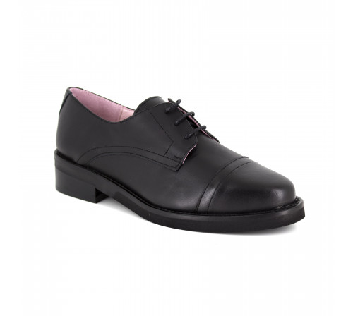 Derby Loca lova Black Leather LL104