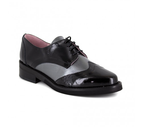 Derby Loca lova Black Leather LL103