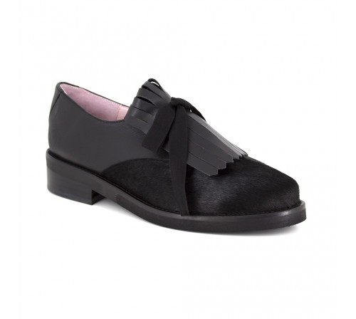 Derby Loca lova Black Leather LL102