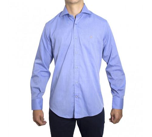 Peter Blade Aldea-vip Chemises Unie Coton Andy Bleu