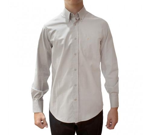 Peter Blade Camisas Hombre Liso Algodón Alex Gris