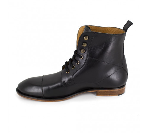 Low Boots Pierre Cardin Black Leather PC1610QB