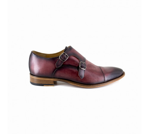 Derby with buckle Pierre Cardin Burgundy Leather PC1801KQ