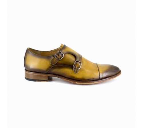 Derby with buckle Pierre Cardin Yellow Leather PC1801KQ