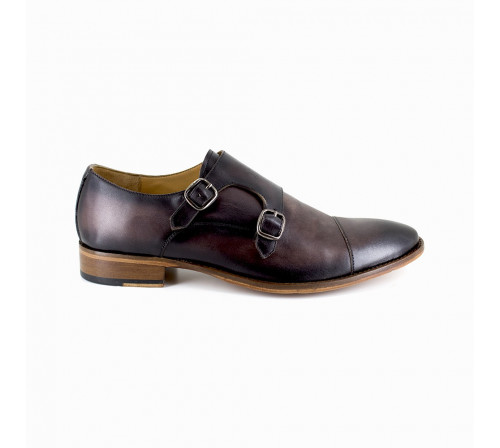 Derby with buckle Pierre Cardin Brown Leather PC1801KQ