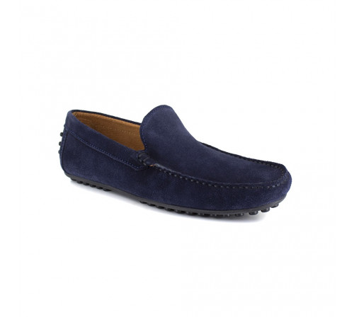 Loafer J.BRADFORD Navy BLue Leather JB-NAVY