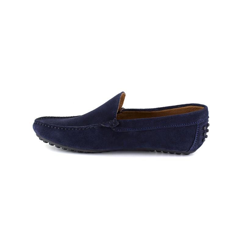 Marine J.bradford Cuir Bleu Brogues - Couleur - Bleu, La Taille Des Chaussures - 40