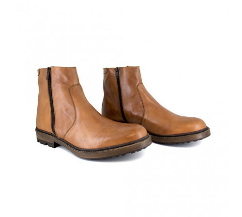 Bottine Peter Blade Cuir Camel LINDE E