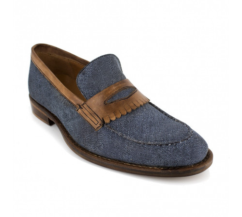 Loafer Pierre Cardin Blue Fabric PC1704MT