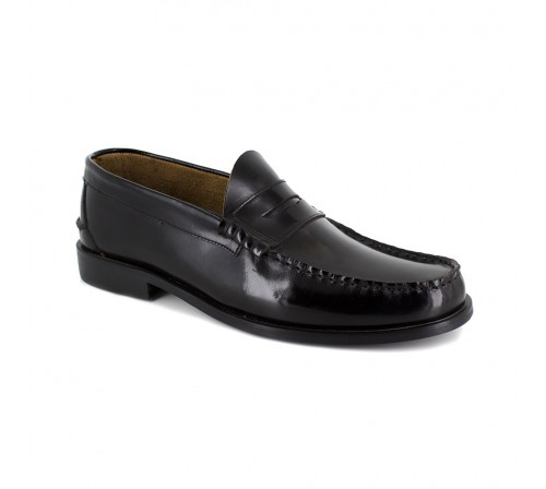 J.BRADFORD BLACK SHOES COOPER FOR Man