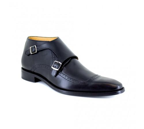 Low Boots J.Bradford Black Leather JB-MANZO
