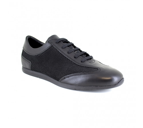Sneaker J.Bradford Black Leather JB-RAMBLA