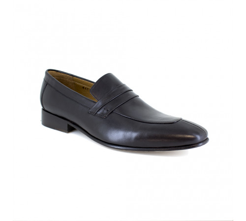 Loafer J.Bradford Black Leather JB-COBRE