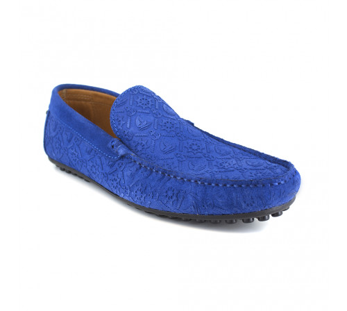Loafer J.Bradford Blue Leather JB-VEDETTE