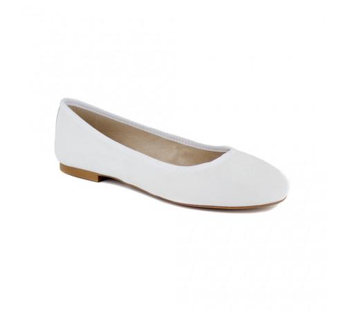Ballerina J.Bradford White Leather JB-POPPY